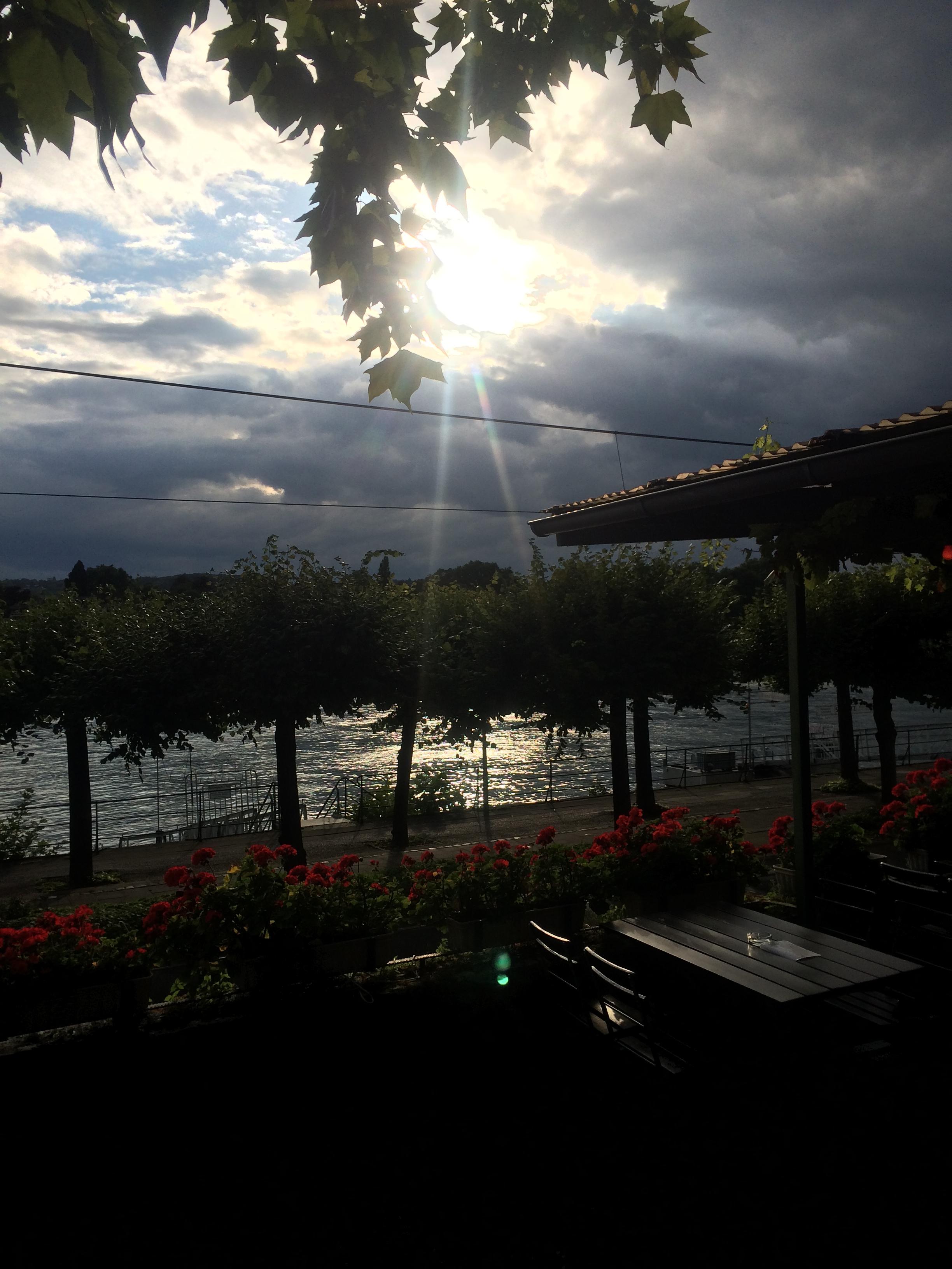 Durchbruch der Sonne durch die Wolken